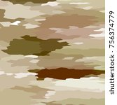 camouflage background with... | Shutterstock . vector #756374779