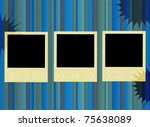 frames on the striped grunge...