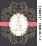royal wedding card made... | Shutterstock .eps vector #75638698