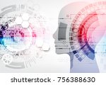 creative brain concept... | Shutterstock .eps vector #756388630