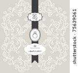 best wedding invitation card... | Shutterstock .eps vector #75639061