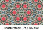 seamless circular vector... | Shutterstock .eps vector #756402550