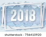 illustration of happy new year... | Shutterstock .eps vector #756410920