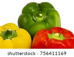 yellow  green and red peppers... | Shutterstock . vector #756411169