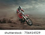 motocross sport photo | Shutterstock . vector #756414529