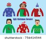 illustration vector christmas... | Shutterstock .eps vector #756414544