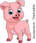 vector illustration  funny... | Shutterstock .eps vector #756416854