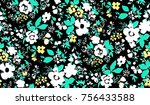 seamless floral pattern in... | Shutterstock .eps vector #756433588