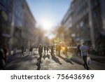 crowd of anonymous people...   Shutterstock . vector #756436969