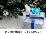 christmas   new year presents... | Shutterstock . vector #756439174