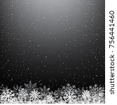 dark glowing light snow... | Shutterstock .eps vector #756441460