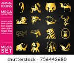 mega pack and mega set vector...   Shutterstock .eps vector #756443680