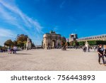 paris  september 2017  arc de... | Shutterstock . vector #756443893