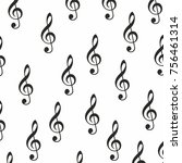 music sign notes vector... | Shutterstock .eps vector #756461314