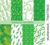 vector set for packaging design.... | Shutterstock .eps vector #756475810