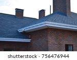 bitumen tile roof. roof docke   ... | Shutterstock . vector #756476944