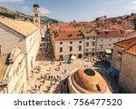 stradun street dubrovnik | Shutterstock . vector #756477520
