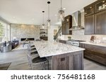 luxury kitchen accented with... | Shutterstock . vector #756481168
