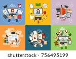 online education vector concept ...   Shutterstock .eps vector #756495199