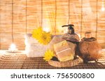 an aroma soap with aroma body... | Shutterstock . vector #756500800