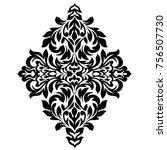 vintage baroque frame scroll...   Shutterstock . vector #756507730