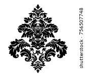 vintage baroque frame scroll... | Shutterstock . vector #756507748