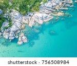 around crystal bay in samui | Shutterstock . vector #756508984