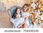 happy family mother and... | Shutterstock . vector #756530140