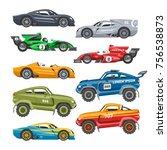 rally sport car vector... | Shutterstock .eps vector #756538873