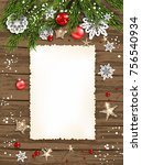 holiday christmas card with fir ... | Shutterstock .eps vector #756540934