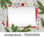 holiday christmas card with fir ...