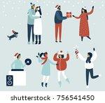 cartoon vector illustration.... | Shutterstock .eps vector #756541450