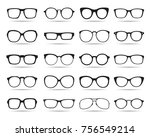 big set of glasses. vector icons | Shutterstock .eps vector #756549214