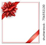 white festive square card with... | Shutterstock .eps vector #756552130
