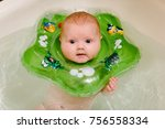 the baby is newborn  the girl... | Shutterstock . vector #756558334