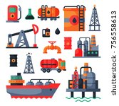 oil petroleum extraction... | Shutterstock .eps vector #756558613