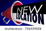 new location bullhorn megaphone ... | Shutterstock . vector #756559858