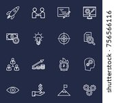 set of 16 idea outline icons... | Shutterstock .eps vector #756566116