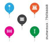 set of 5 decor icons set... | Shutterstock .eps vector #756566668