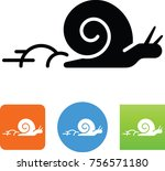 speedy snail icon | Shutterstock .eps vector #756571180