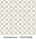 Abstract Floral Tiles Seamless Vector Pattern. Geometric texture. Repeating background. | Shutterstock vector #756578488