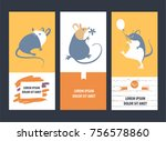 freehand drawn silhouette small ... | Shutterstock .eps vector #756578860