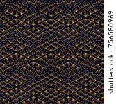 asian pattern. kabuki. japanese ... | Shutterstock .eps vector #756580969
