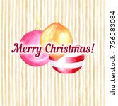 beautiful hand drawn postcard... | Shutterstock . vector #756583084