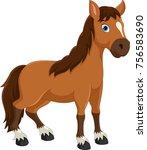 cute horse cartoon | Shutterstock . vector #756583690