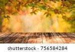 autumn background table | Shutterstock . vector #756584284