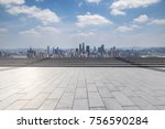 panoramic skyline and buildings ... | Shutterstock . vector #756590284