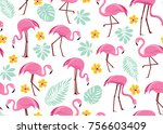vector seamless pattern with... | Shutterstock .eps vector #756603409