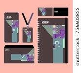 corporate dentity template set. ... | Shutterstock .eps vector #756603823