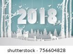 winter season and merry... | Shutterstock .eps vector #756604828
